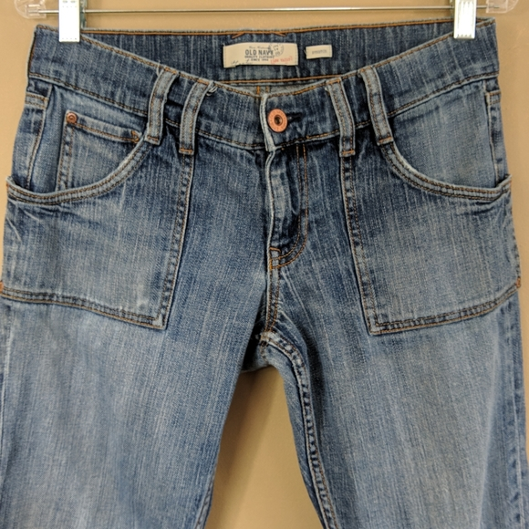 Old Navy Denim - Old Navy Patch Pocket Low Rise Boot Cut Sz 8S